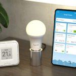 inteligentna żarówka LED oraz wielofunkcyjny przycisk z wyświetlaczem e-papier